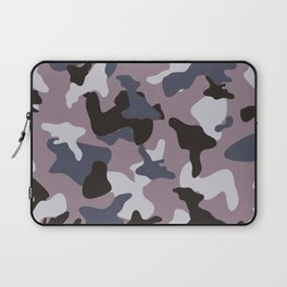 Gray army camo camouflage pattern Laptop Sleeve