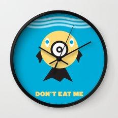 Don't Eat Me Vegan Fishie Art Wall Clock