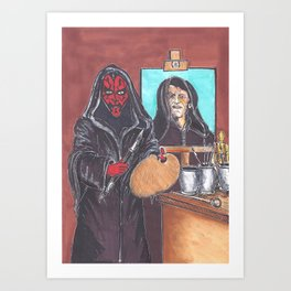 Darth Maler Art Print