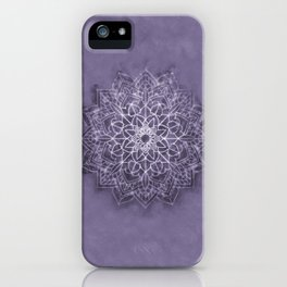 Vintage Lavender Watercolor Mandala iPhone Case