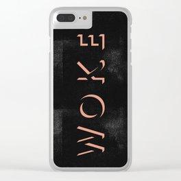 WOKE III Clear iPhone Case