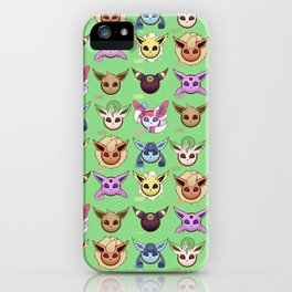 Eeveelutions Green iPhone Case