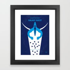 No551 My Galaxy Quest minimal movie poster Framed Art Print