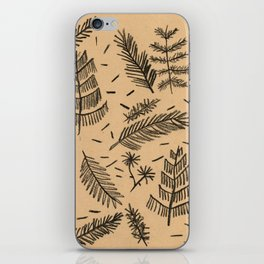 Kraft Paper Pine iPhone Skin