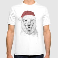 Santa lion Mens Fitted Tee 2X-LARGE White