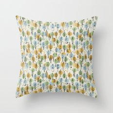 64 Popular People and a Dog (Pattern) Throw Pillow