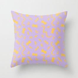 Pasta—Purple Throw Pillow