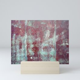 Background. Grunge and rusty metal surface Mini Art Print
