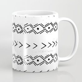 mudcloth 5 minimal textured black and white pattern home decor minimalist Coffee Mug