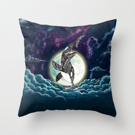 Kiss Good Night - Orca III Throw Pillow
