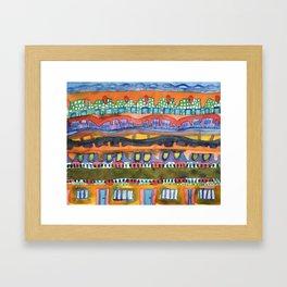 City On The Edge Of The Desert  Framed Art Print