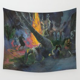 Upa Upa (The Fire Dance) by Paul Gauguin Wall Tapestry