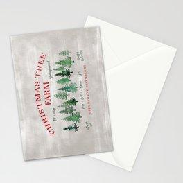 Christmas tree farm sign Stationery Cards