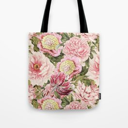 Vintage & Shabby Chic Floral Peony & Lily Flowers Watercolor Pattern Umhängetasche
