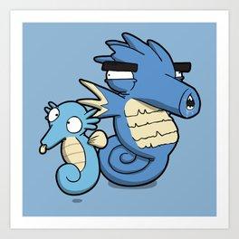 Pokémon - Number 116 & 117 Art Print