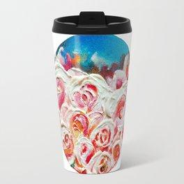 Roses on Fire Travel Mug