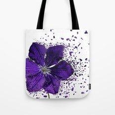 Purple flower Explosion Tote Bag