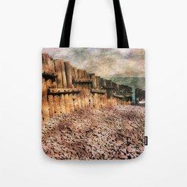 Sea Defence Groynes - watercolour effect. Tote Bag