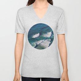 Waves Crashing Unisex V-Neck