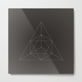 Geometric Dark Metal Print