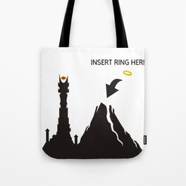 Lord of the Ring Intructions Tote Bag