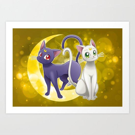 Luna & Artemis (Sailor Moon Crystal edit.) by alphavirginis