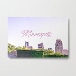 Minneapolis Minnesota Skyline Photography Metal Print