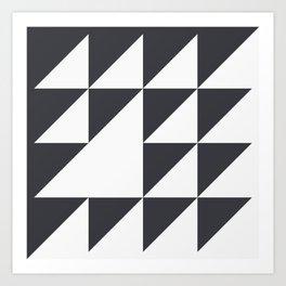 Black & White Geometry Art Print