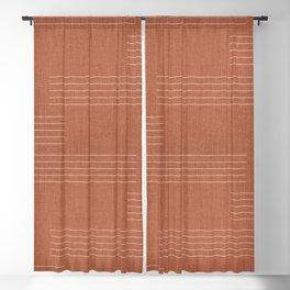 Minimal, Pattern, Boho Prints, Terracotta Blackout Curtain