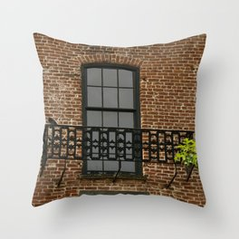 Savannah Warehouse Window Throw Pillow