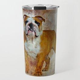 Bulldog Art Travel Mug