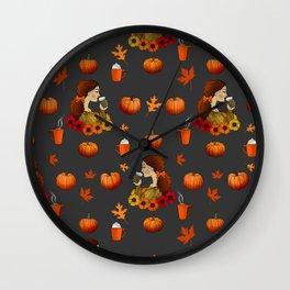 Pumpkin Spice Wall Clock
