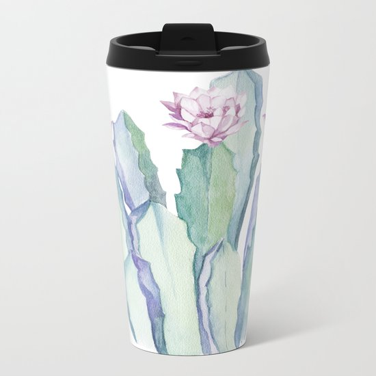Cactus in Love Metal Travel Mug