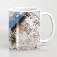 airplane Mugs featuring Airplane by Mauricio Santana