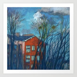 Nesting Season, Impressionism Spring Landscape Pastel Painting Art Print