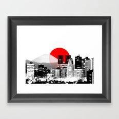 Modern Japan - Tokyo - Shinjuku Framed Art Print