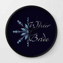 Winter Bride Wall Clock