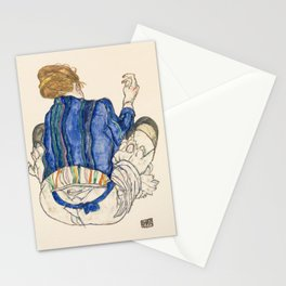Seated Woman, Back View Stationery Cards