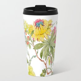 Bluejay Bird Day Floral Travel Mug