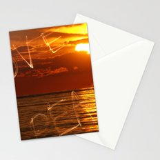 Love and peace sunset Stationery Cards