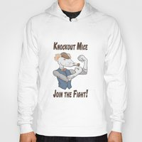 onward Hoodies featuring Knockout Mice by Bill Nihilist