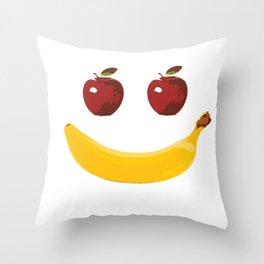 Smile Vegetable Design Throw Pillow