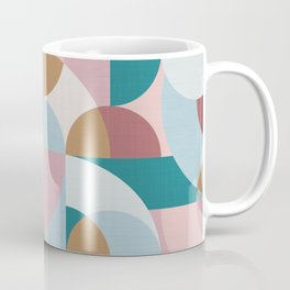 Mid Century Shapes N.05 / Winter Morning Abstraction Coffee Mug