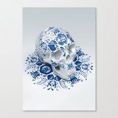 Gzhel Skull Canvas Print