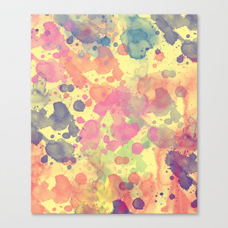 Paintsplash Canvas Prints | Society6