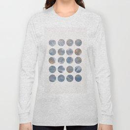 Pastel Blue and Gold Minimalist Dots Long Sleeve T-shirt