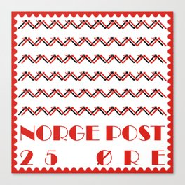 Norge Post Canvas Print