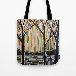Abstract Art Landscape Original Painting ... Enchanted Nights Tote Bag