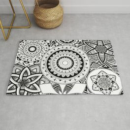 Mandalas in a lace Rug