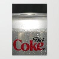 coke Canvas Prints featuring Coke by Christa Herchek